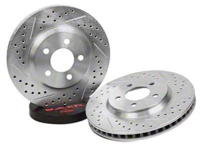 Baer Sport Drilled & Slotted Rotors - Rear Pair (04-06 Jeep Wrangler TJ)