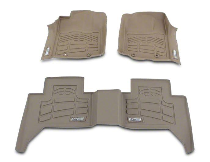 Wade Sure-Fit 2nd Row Floor Mat - Tan (07-13 Jeep Wrangler JK 4 Door)