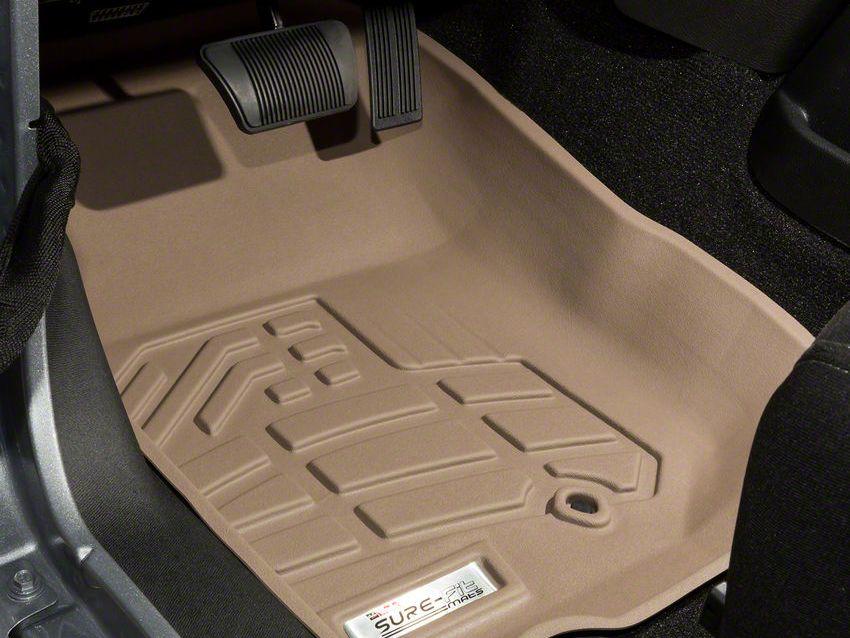 Wade Sure-Fit Front Floor Mats - Tan (07-18 Jeep Wrangler JK)