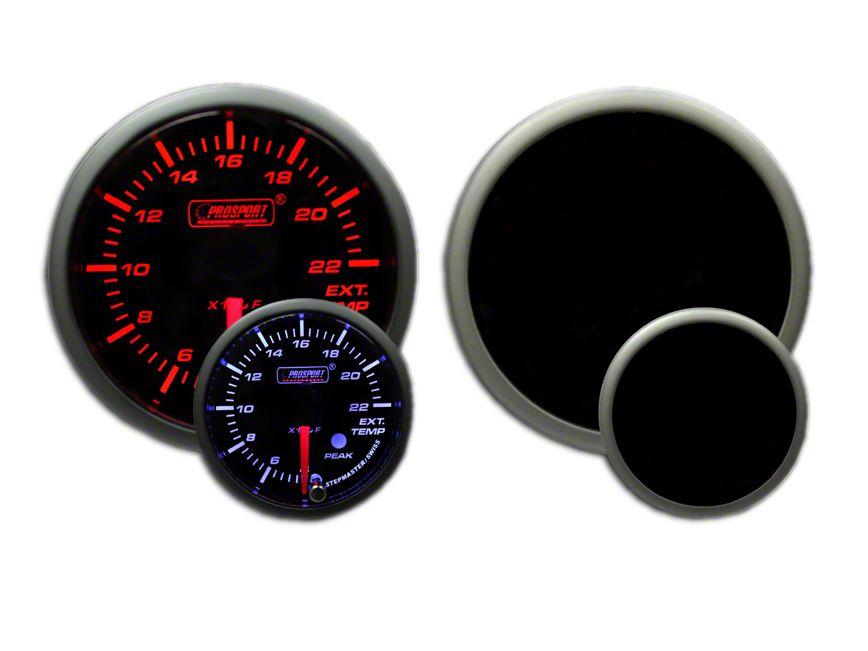 Prosport Dual Color EGT Premium Boost Gauge - Amber/White (97-18 Jeep Wrangler TJ, JK & JL)