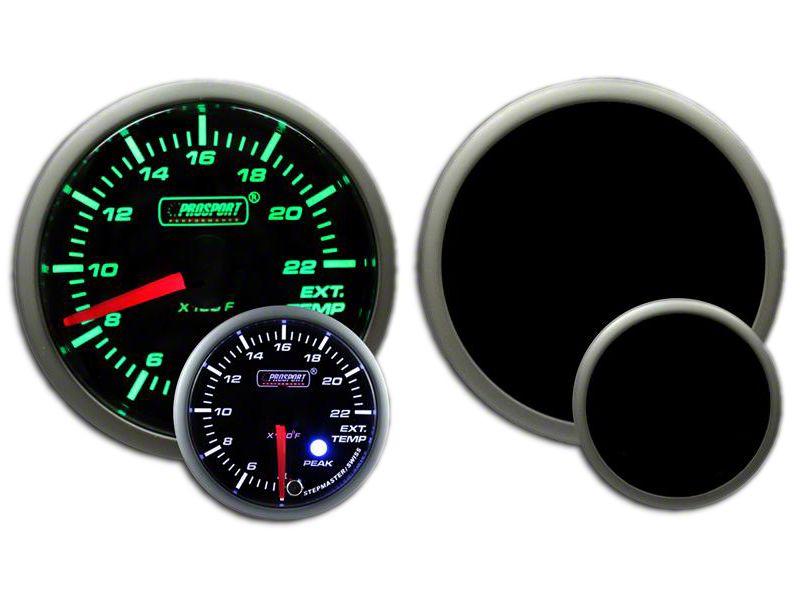 Prosport Dual Color EGT Premium Boost Gauge - Green/White (97-18 Jeep Wrangler TJ, JK & JL)