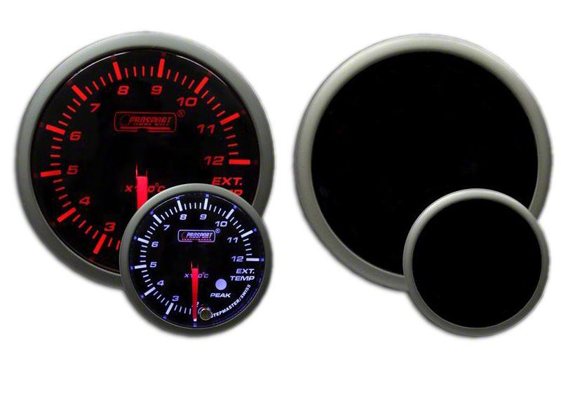 Prosport Dual Color EGT Premium Metric Boost Gauge - Amber/White (97-18 Jeep Wrangler TJ, JK & JL)