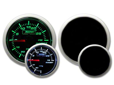 Prosport Dual Color 30 PSI Boost Gauge - Electrical - Green/White (97-18 Jeep Wrangler TJ, JK & JL)