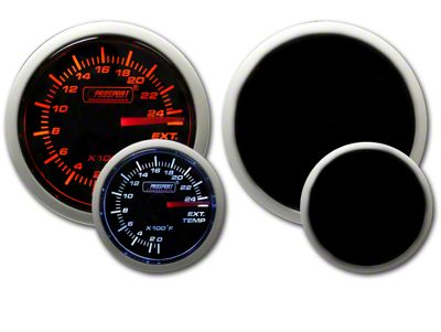 Prosport Dual Color Exhaust Gas Temperature Gauge - Amber/White (97-18 Jeep Wrangler TJ, JK & JL)