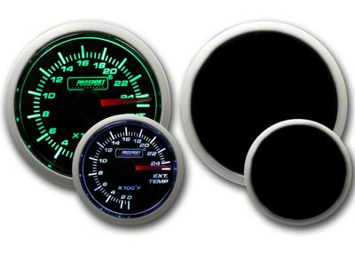 Prosport Dual Color Exhaust Gas Temperature Gauge - Green/White (97-18 Jeep Wrangler TJ, JK & JL)