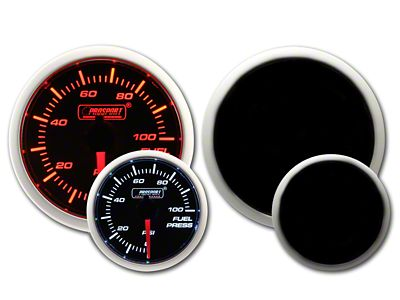 Prosport Dual Color Fuel Pressure Gauge - Electrical - Amber/White (97-18 Jeep Wrangler TJ, JK & JL)