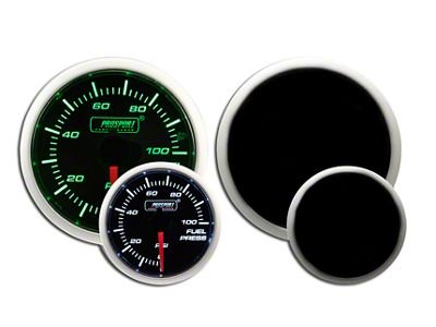 Prosport Dual Color Fuel Pressure Gauge - Electrical - Green/White (97-18 Jeep Wrangler TJ, JK & JL)