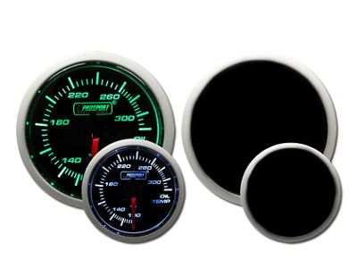 Prosport Dual Color Oil Temperature Gauge - Green/White (97-18 Jeep Wrangler TJ, JK & JL)
