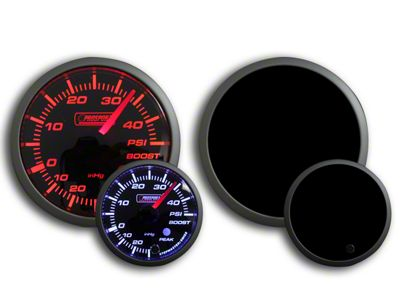 Prosport Dual Color 45 PSI Boost Gauge - Electrical - Amber/White (97-18 Jeep Wrangler TJ, JK & JL)