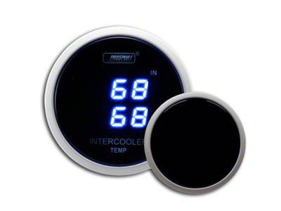 Prosport Dual Intercooler Digital Display Air Temperature Gauge - Blue (97-18 Jeep Wrangler TJ, JK & JL)