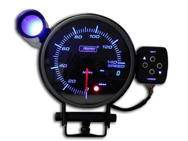Prosport 0-140 MPH Electronic Speedometer - 95mm (97-19 Jeep Wrangler TJ, JK & JL)