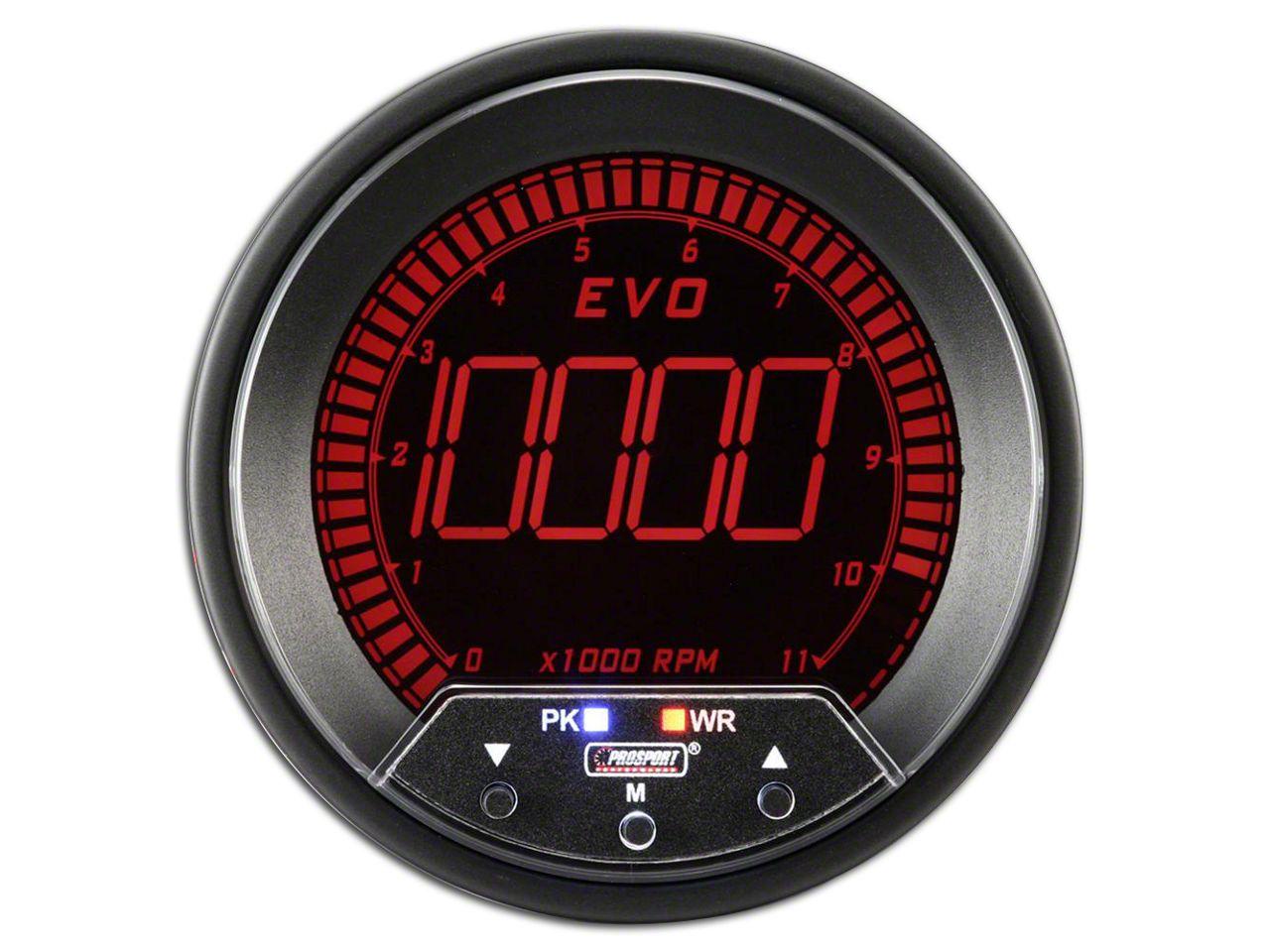 Prosport Quad Color Evo Tachometer - 85mm (97-18 Jeep Wrangler TJ, JK & JL)