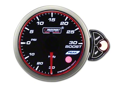 Prosport Halo 30 PSI Boost Gauge - Electrical (97-18 Jeep Wrangler TJ, JK & JL)