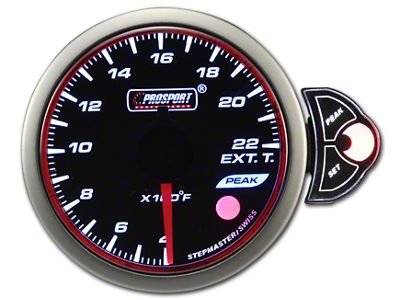 Prosport Halo Exhaust Gas Temperature Gauge (97-18 Jeep Wrangler TJ, JK & JL)