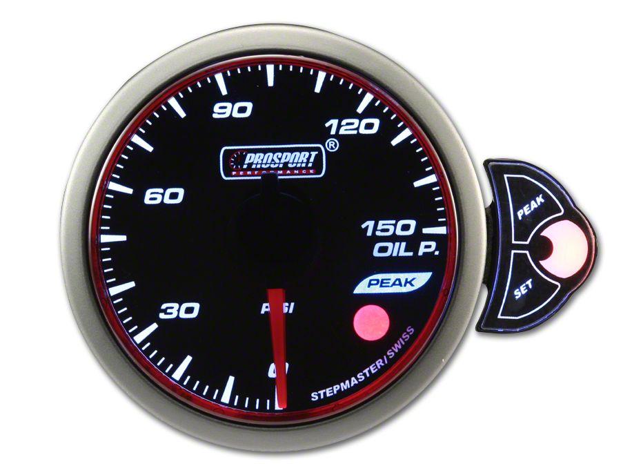 Prosport Halo Oil Pressure Gauge - Electrical (97-18 Jeep Wrangler TJ, JK & JL)