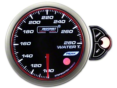 Prosport Halo Water Temperature Gauge (97-18 Jeep Wrangler TJ, JK & JL)