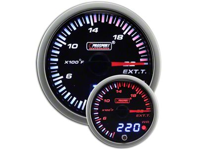Prosport JDM Exhaust Gas Temperature Gauge - Electrical (97-18 Jeep Wrangler TJ, JK & JL)
