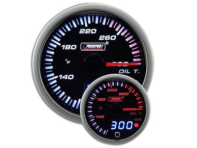 Prosport JDM Oil Temperature Gauge - Electrical (97-18 Jeep Wrangler TJ, JK & JL)
