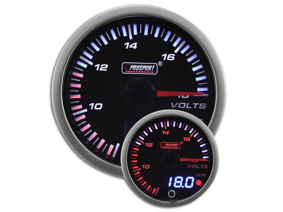 Prosport JDM Volt Gauge - Electrical (97-18 Jeep Wrangler TJ, JK & JL)