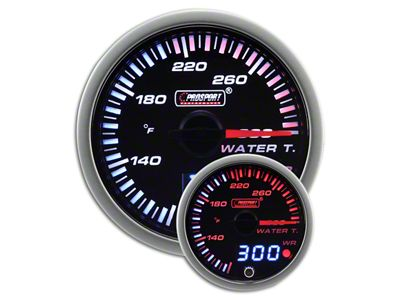 Prosport JDM Water Temperature Gauge - Electrical (97-18 Jeep Wrangler TJ, JK & JL)
