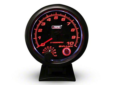 Prosport Performance Tachometer w/Shift Light - 3-3/4 in. (97-18 Jeep Wrangler TJ, JK & JL)