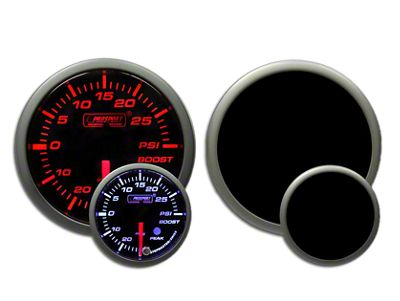 Prosport Dual Color Premium Boost Gauge - Electrical - Amber/White (97-18 Jeep Wrangler TJ, JK & JL)