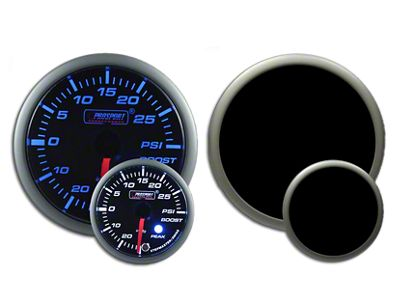 Prosport Dual Color Premium Boost Gauge - Electrical - Green/White (97-18 Jeep Wrangler TJ, JK & JL)