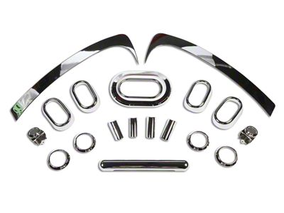 Rugged Ridge Chrome Interior Trim Accent Kit (07-10 Jeep Wrangler JK 4 Door w/ Manual Transmission & Manual Windows)