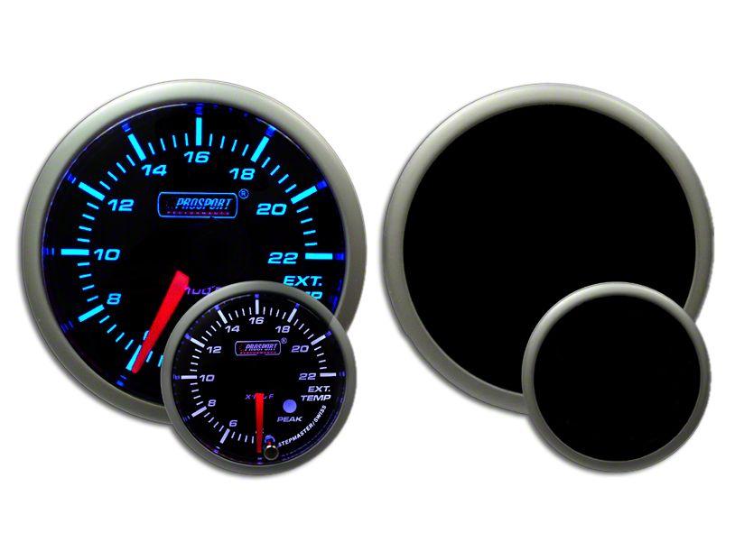 Prosport Dual Color Premium EGT Gauge - Blue/White (97-18 Jeep Wrangler TJ, JK & JL)