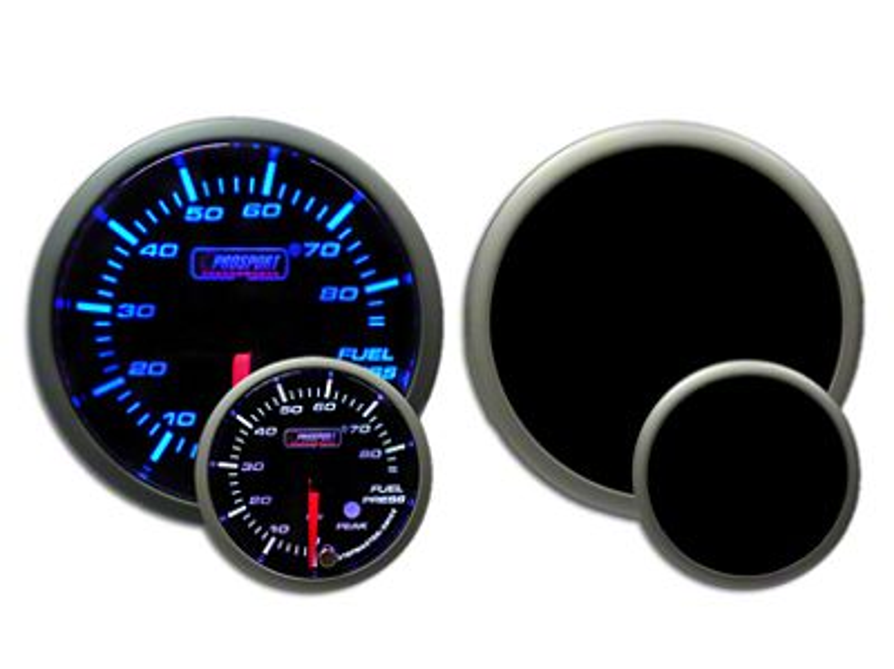 Prosport Dual Color Premium Fuel Pressure Gauge - Blue/White (97-18 Jeep Wrangler TJ, JK & JL)