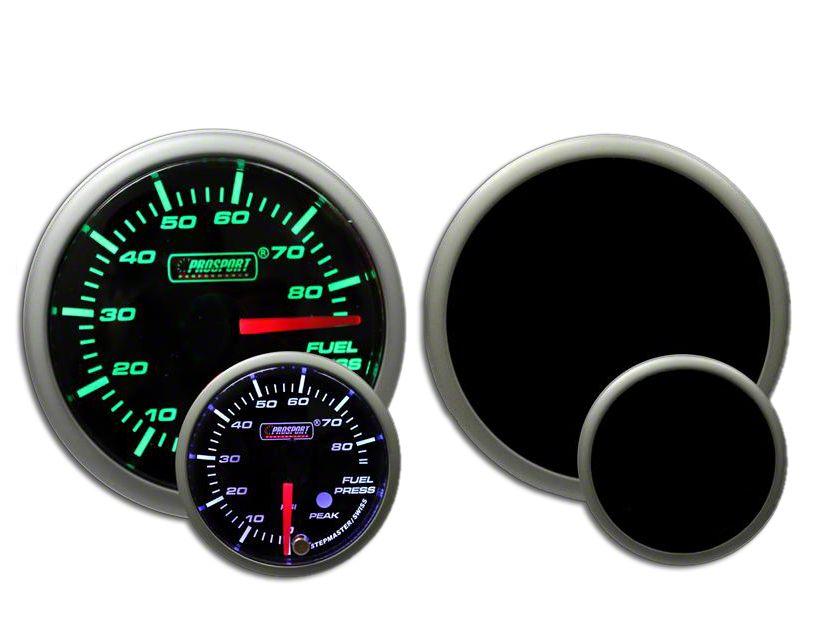 Prosport Dual Color Premium Fuel Pressure Gauge - Green/White (97-18 Jeep Wrangler TJ, JK & JL)