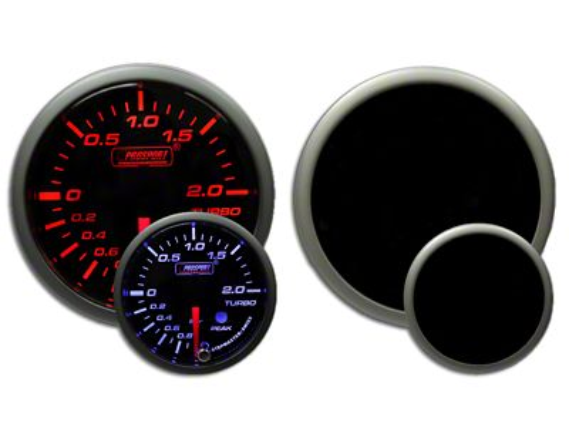 Prosport Dual Color Premium Metric Boost Gauge - Amber/White (97-18 Jeep Wrangler TJ, JK & JL)