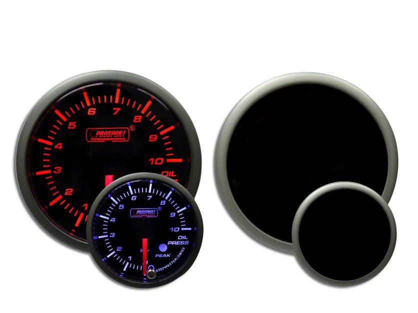 Prosport Dual Color Premium Metric Oil Pressure Gauge - Amber/White (97-18 Jeep Wrangler TJ, JK & JL)