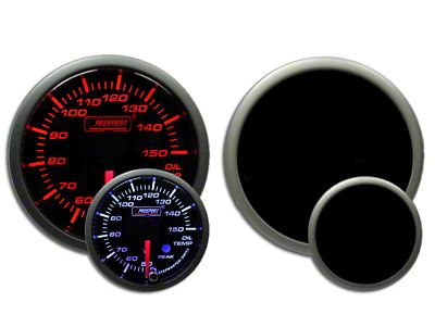 Prosport Dual Color Premium Metric Oil Temperature Gauge - Amber/White (97-18 Jeep Wrangler TJ, JK & JL)