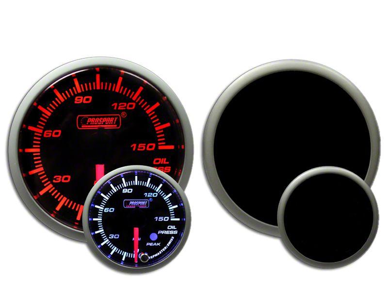 Prosport Dual Color Premium 0-150 PSI Oil Pressure Gauge - Amber/White (97-18 Jeep Wrangler TJ, JK & JL)