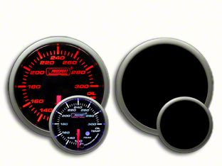 Prosport Dual Color Premium Oil Temperature Gauge - Amber/White (97-18 Jeep Wrangler TJ, JK & JL)