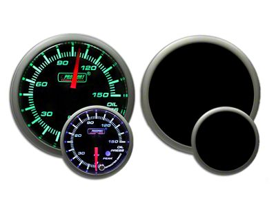 Prosport Dual Color Premium 0-150 PSI Oil Pressure Gauge - Green/White (97-18 Wrangler TJ & JK)