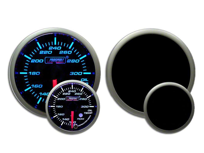 Prosport Dual Color Premium Oil Temperature Gauge - Blue/White (97-18 Jeep Wrangler TJ, JK & JL)