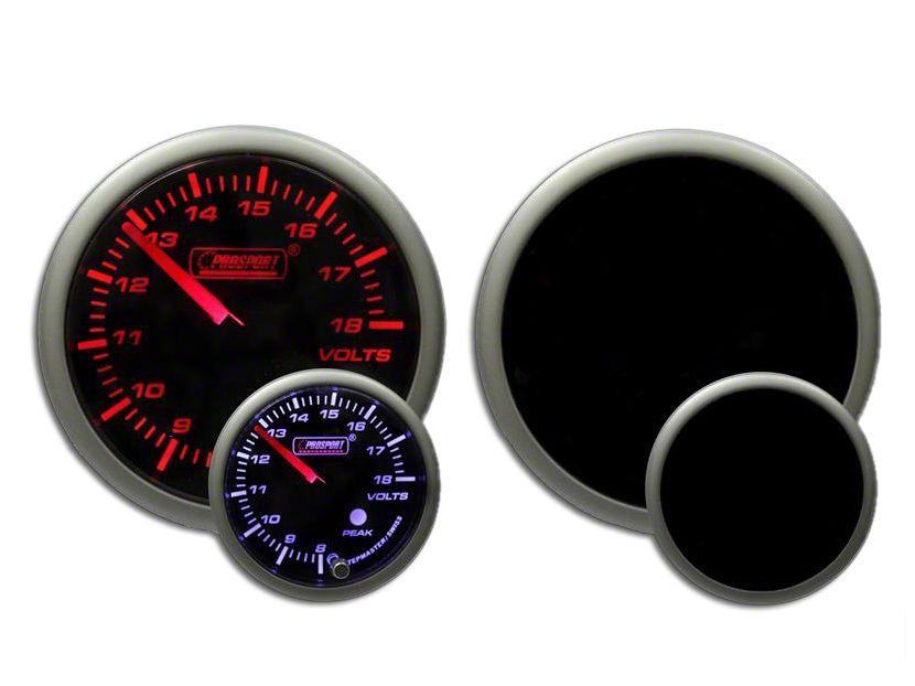 Prosport Dual Color Premium Volt Gauge - Amber/White (97-18 Jeep Wrangler TJ, JK & JL)