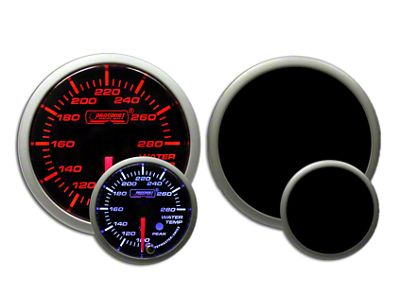 Prosport Dual Color Premium Water Temperature Gauge - Amber/White (97-18 Jeep Wrangler TJ, JK & JL)