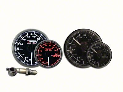 Prosport Dual Color Premium White Pointer Wideband Air Fuel Ratio Kit - Amber/White (97-18 Jeep Wrangler TJ, JK & JL)