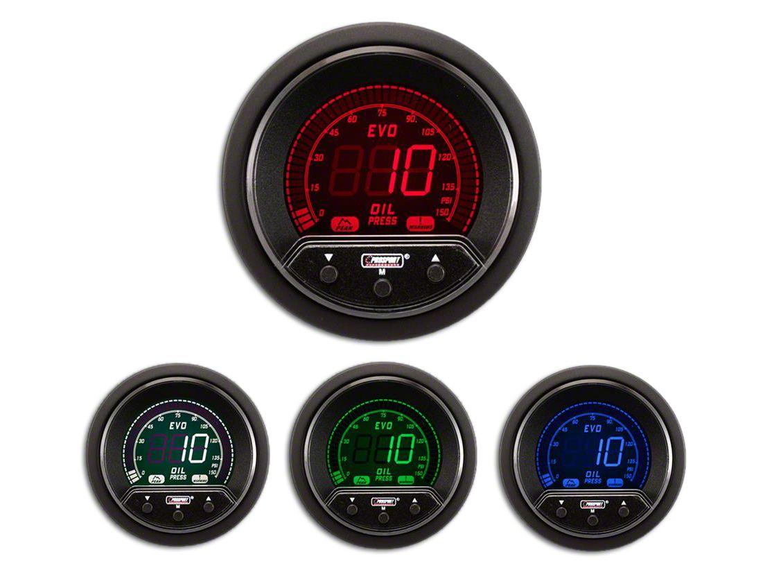 Prosport Premium Evo Oil Pressure Gauge - Electrical (97-18 Jeep Wrangler TJ, JK & JL)