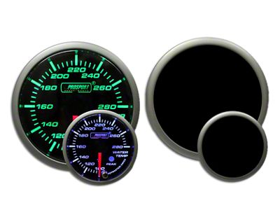Prosport Premium Water Temperature Gauge - Green/White (97-18 Jeep Wrangler TJ, JK & JL)