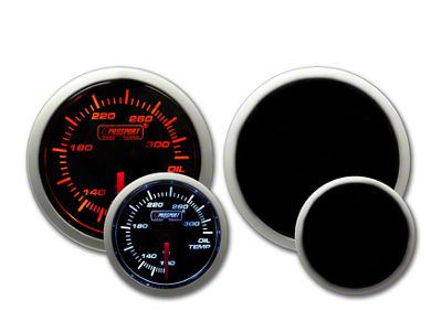 Prosport Tri-Color Halo Oil Temperature Gauge - Amber/White/Blue (97-18 Jeep Wrangler TJ, JK & JL)