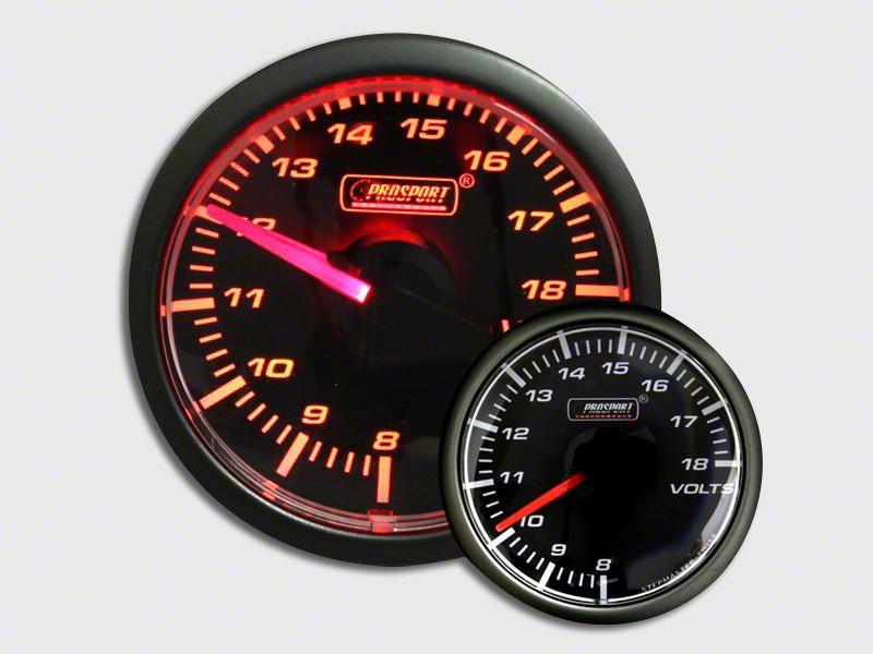 Prosport Voltmeter Gauge - Electrical - Amber (97-18 Jeep Wrangler TJ, JK & JL)