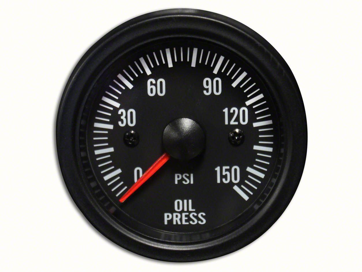 Prosport White LED Oil Pressure Gauge - Electrical (97-19 Jeep Wrangler TJ, JK & JL)