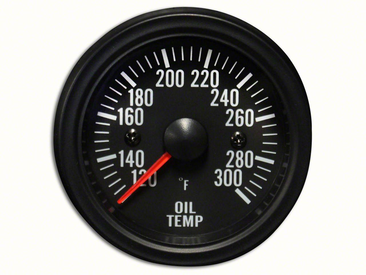Prosport White LED Oil Temperature Gauge - Electrical (97-19 Jeep Wrangler TJ, JK & JL)