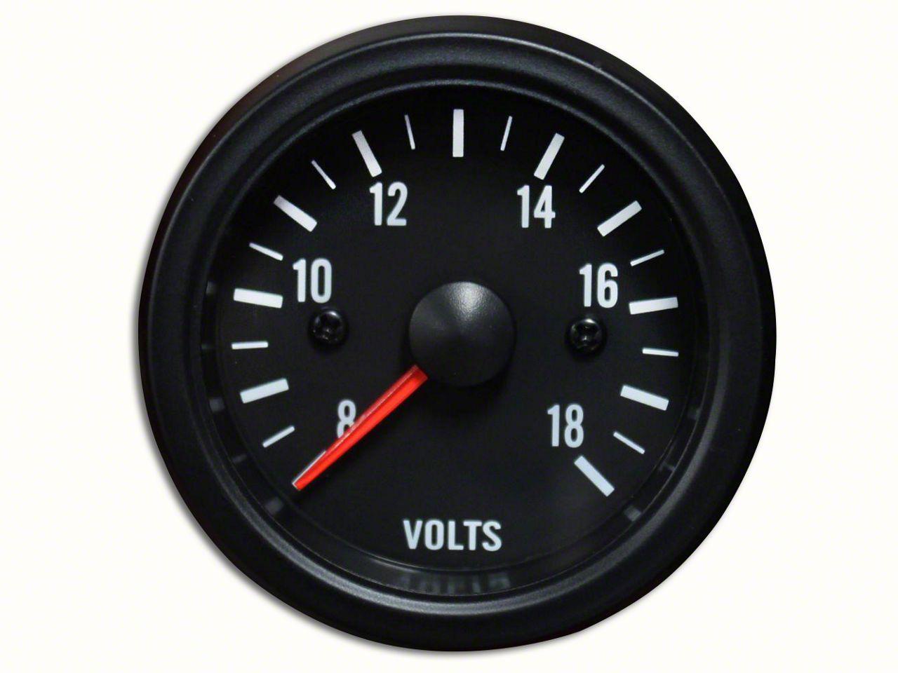 Prosport White LED Volt Gauge - Electrical (97-19 Jeep Wrangler TJ, JK & JL)