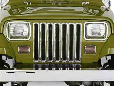 Smittybilt Chrome Plastic Grille Inserts (87-95 Jeep Wrangler YJ)