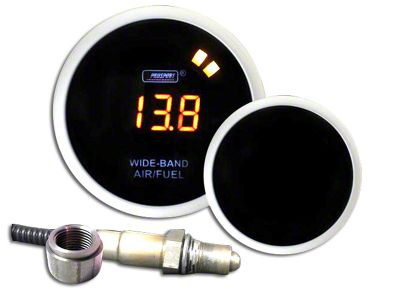 Prosport Digital Wideband Air Fuel Ratio Gauge - Amber (97-18 Jeep Wrangler TJ, JK & JL)